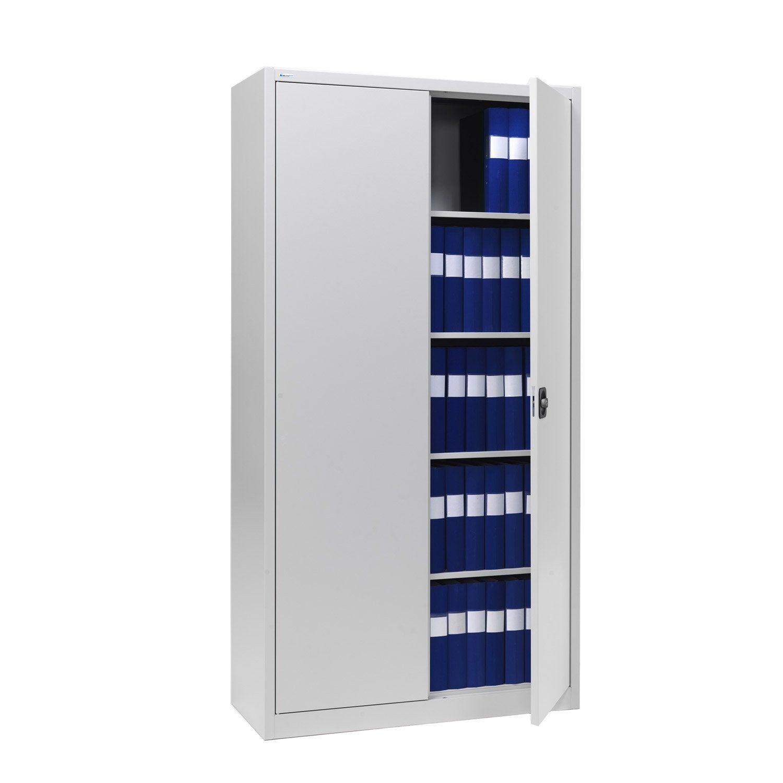 Armoire Haute Metal 4 Tablettes Jds L 100 X H 200 X P 45 Cm Armoire Tablette Et Metal