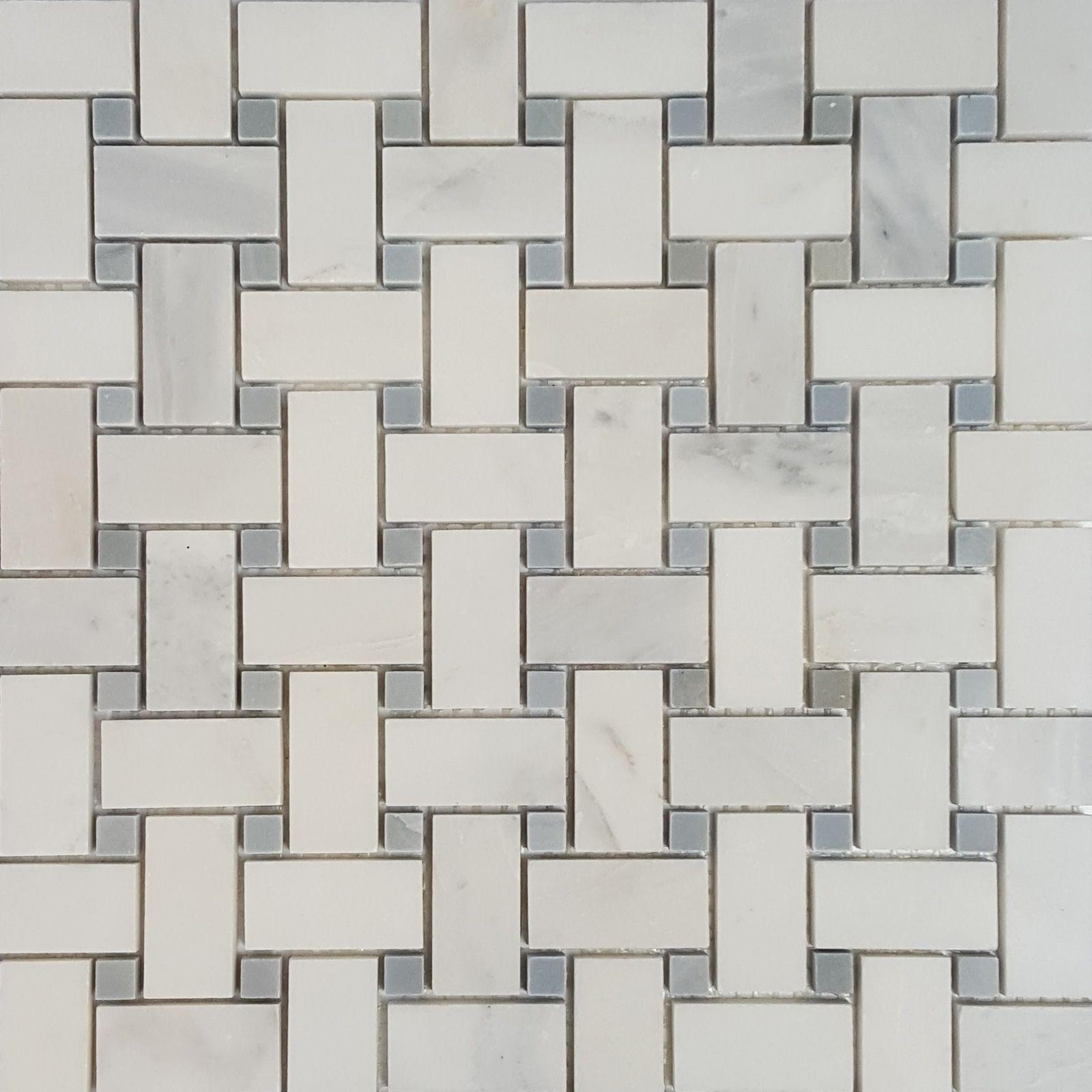 Basketweave mosaic tile asian carrara grey marble polished wall basketweave mosaic tile asian carrara grey marble polished wall floor tile kitchen backsplash bathroom wall floor doublecrazyfo Gallery