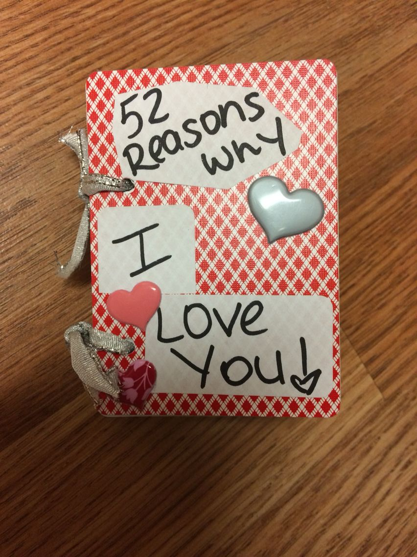 Happy Anniversary   52 reasons why I love you in a deck of cards