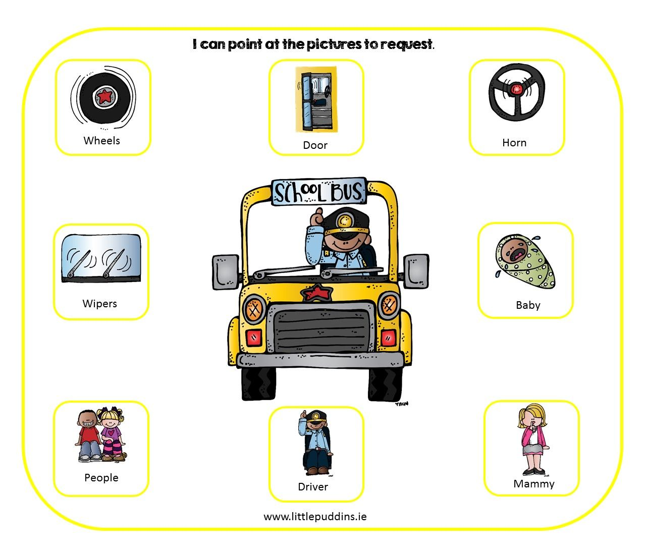 Wheels On The Bus Free Printable With Images