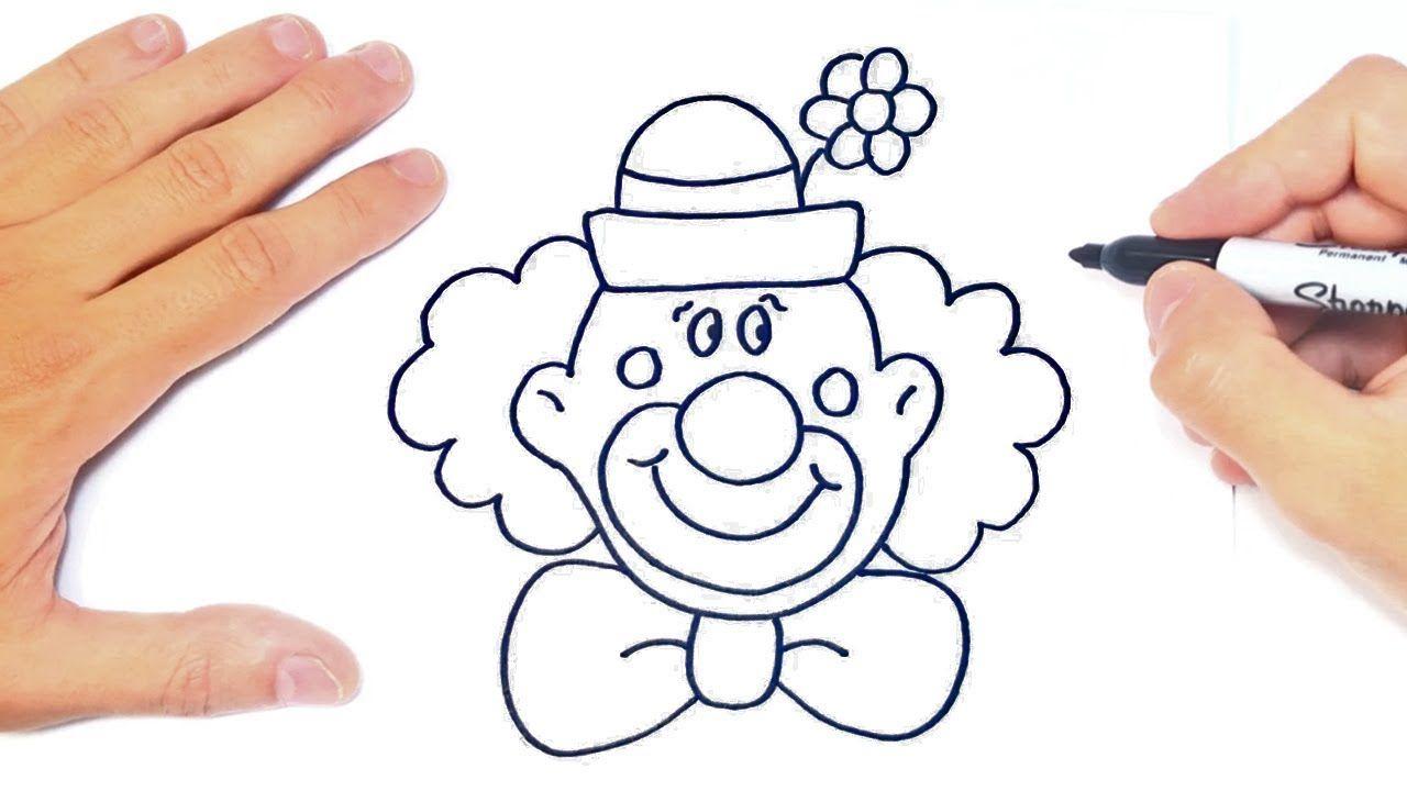 Como Dibujar Un Payaso Paso A Paso Dibujo De Payaso Payasos Para Ninos Payasos Como Dibujar