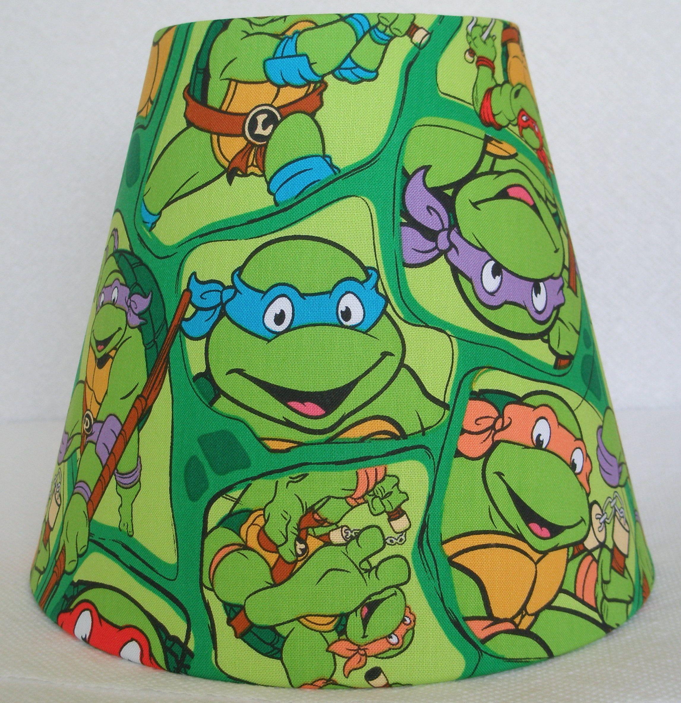 Teenage mutant ninja turtles kids lamp shade boys room decor ideas