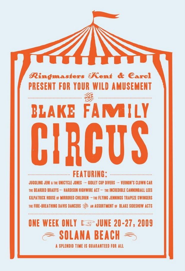 family reunion circus theme now how to translate to a flip flop