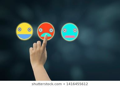 Women use finger touch middle screen icon emoji showing various emotions and feeling on dark blue bokeh background,concept to check the moods Different emotional self or people, or service ratings #background, #blue, #bokeh, #cartoon, #check, #choice, #choose, #communication, #concept, #customer, #dark, #different, #digital, #emoticon, #emotion, #emotional, #experience, #face, #fail, #feedback, #feelings, #female, #finger, #hand, #happy, #icon, #information, #list, #male, #marketing, #moods, #op