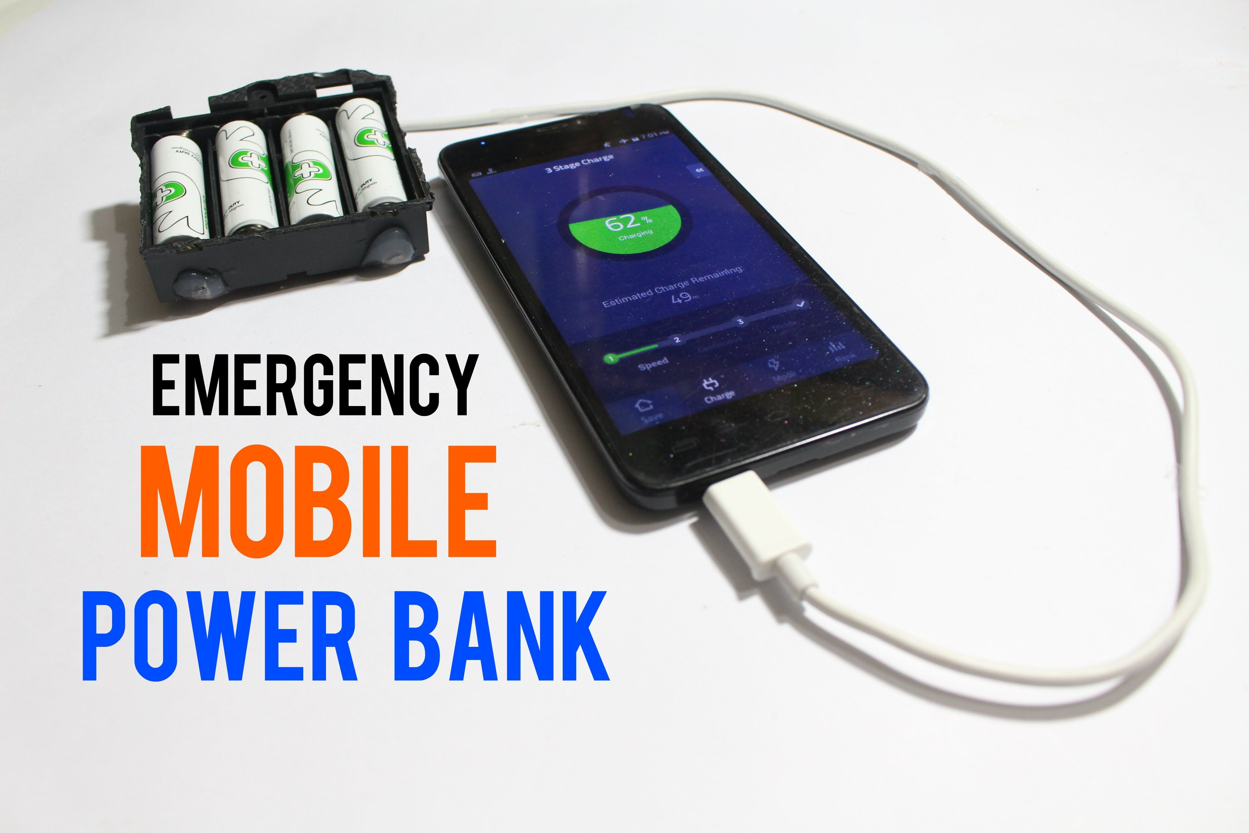 How To Make An Emergency Mobile Phone Charger Using Aa Batteries Phone Charger Phone Mobile Phone