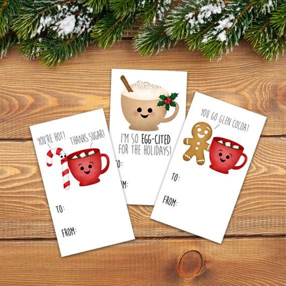 Funny Holiday Gift Tags Digital Printable