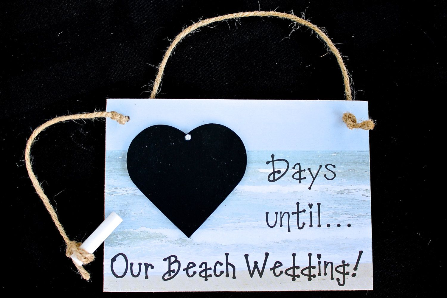 Wedding Chalkboard Countdown Days Until Our Beach Destination Bridal Shower Gift By CountdownChalkboards On Etsy