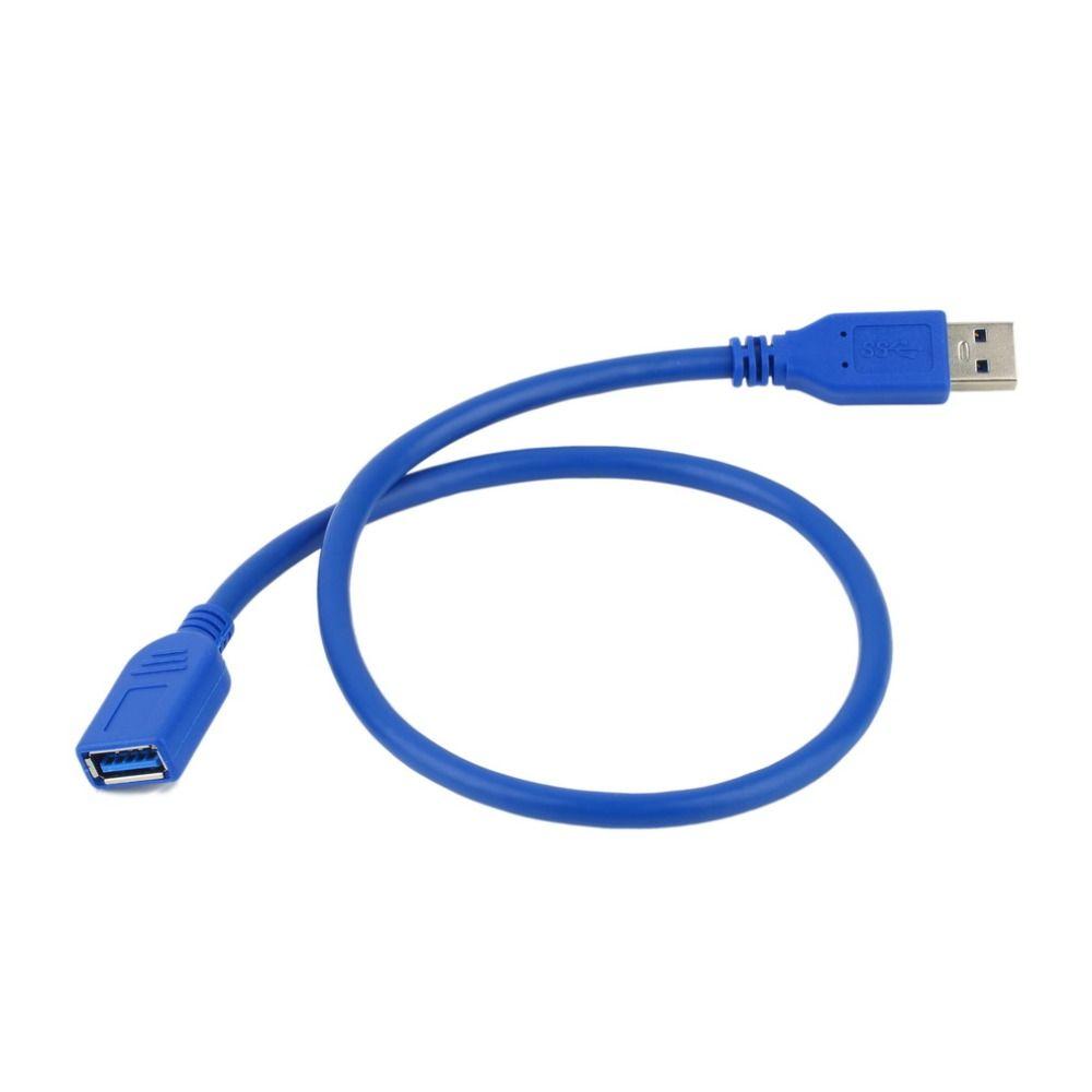 ユニバーサル0.5メートルのusb延長ケーブルusb 3.0オスa usb3.0メスa延長データ同期コードケーブルアダプタのコネクタ卸売