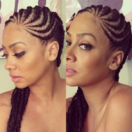 8 Big Corn Row Styles We Are Loving On Pinterest Hair Styles Natural Hair Styles Cornrows Styles