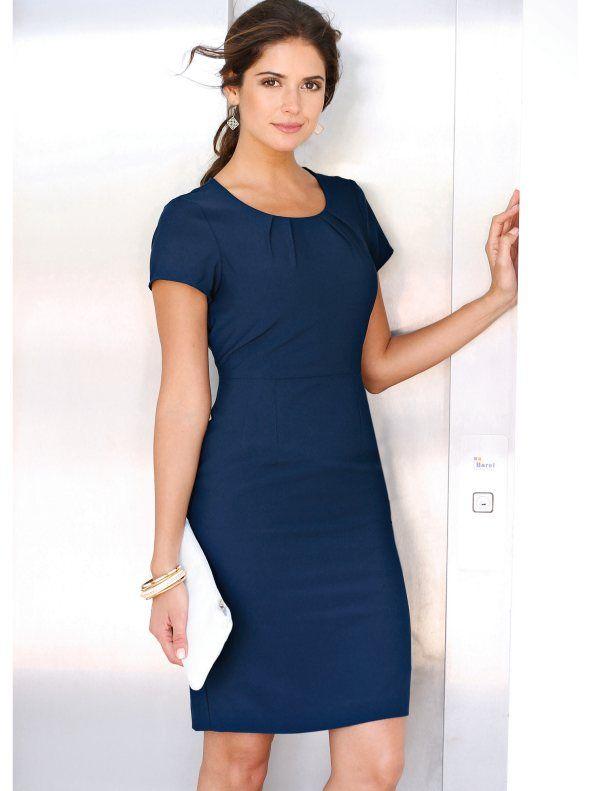32a1695b2cfa6 Vestido elegante mujer manga corta tejido elástico