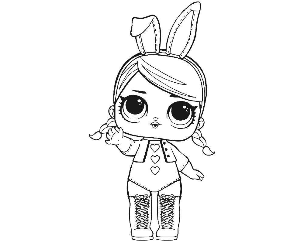 Center Stage Coloring Page Lotta Lol With Images Hello Kitty