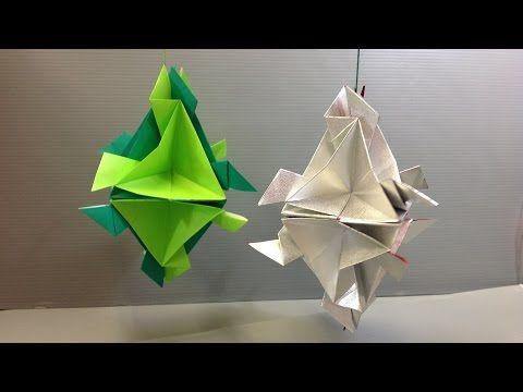 Easy Origami Modular Christmas Ornament  YouTube  ORIGAMI