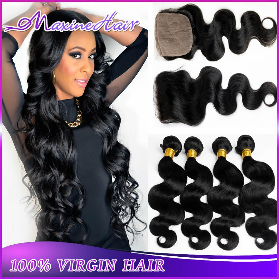 Maxine hair bundles peruvian body wave with closure Прочее