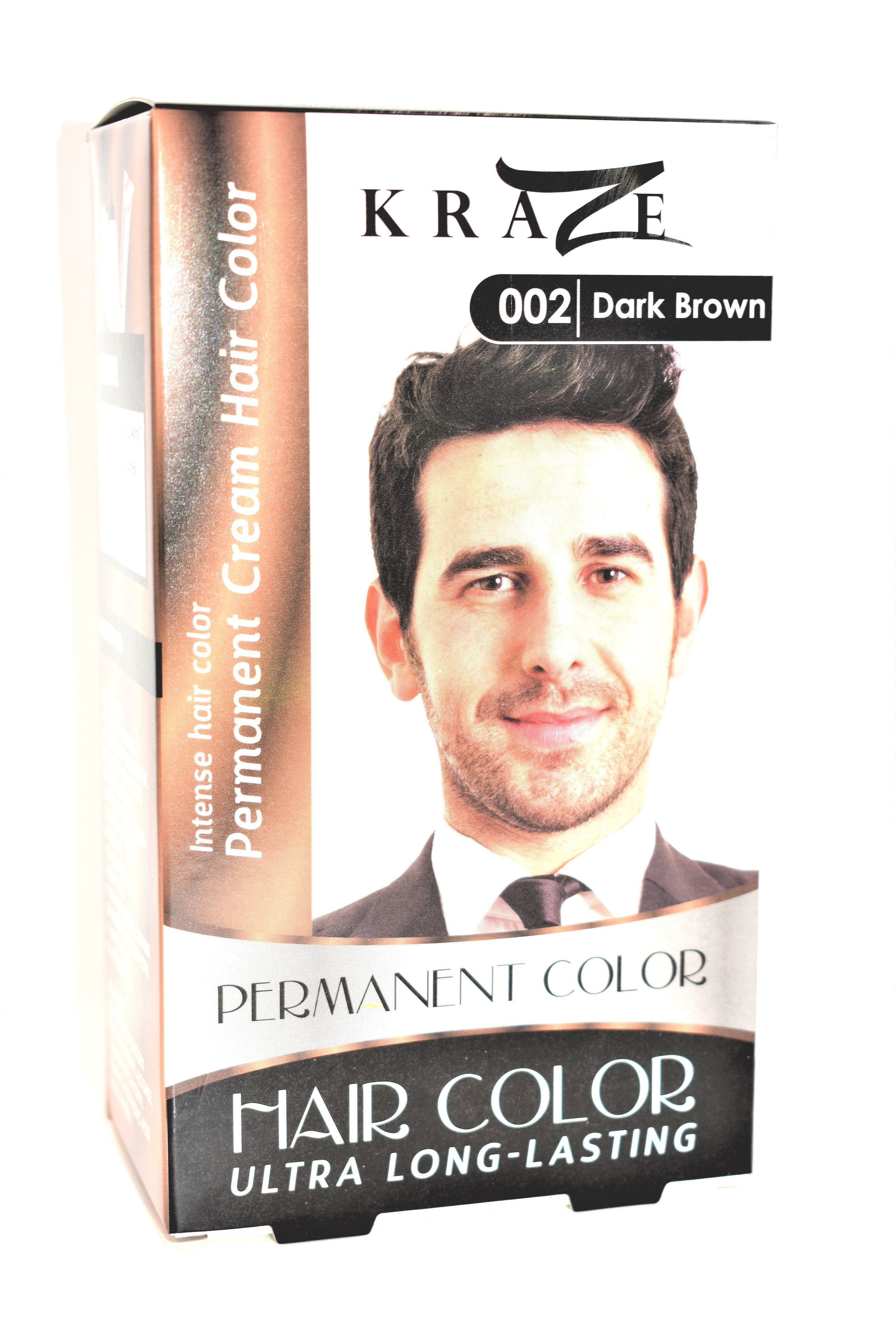 Kraze 002 Dark Brown Permanent Hair Color For Men in 2019 | Products ...