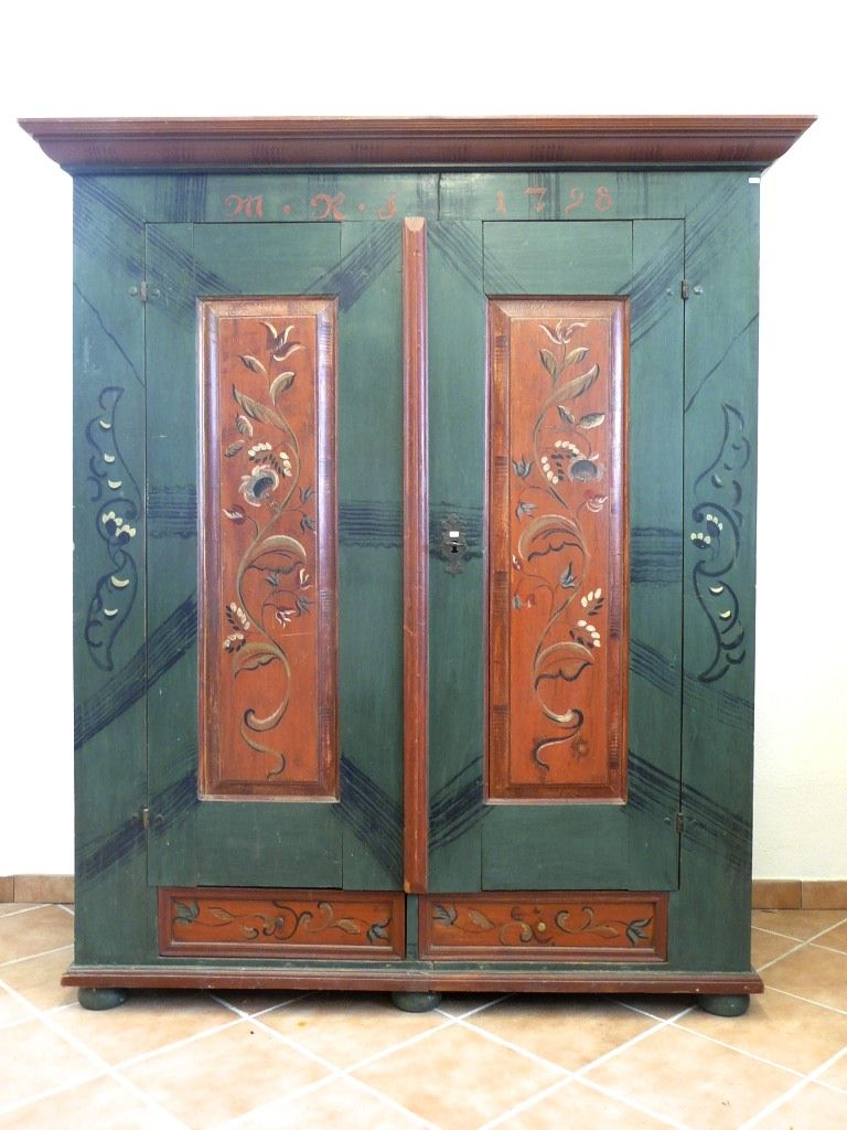 bauernschrank bemalt antique cabinet painted $1950.00 | decorative