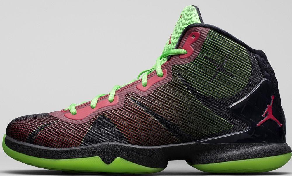 Jordan Super.Fly 4 Black Bright Crimson-Electric Green  f7f3160ad6c