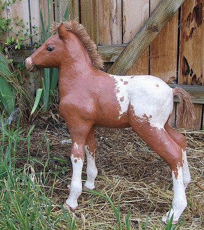 Very fun tutorial website on paper mache- horse pattern grid   Horse
