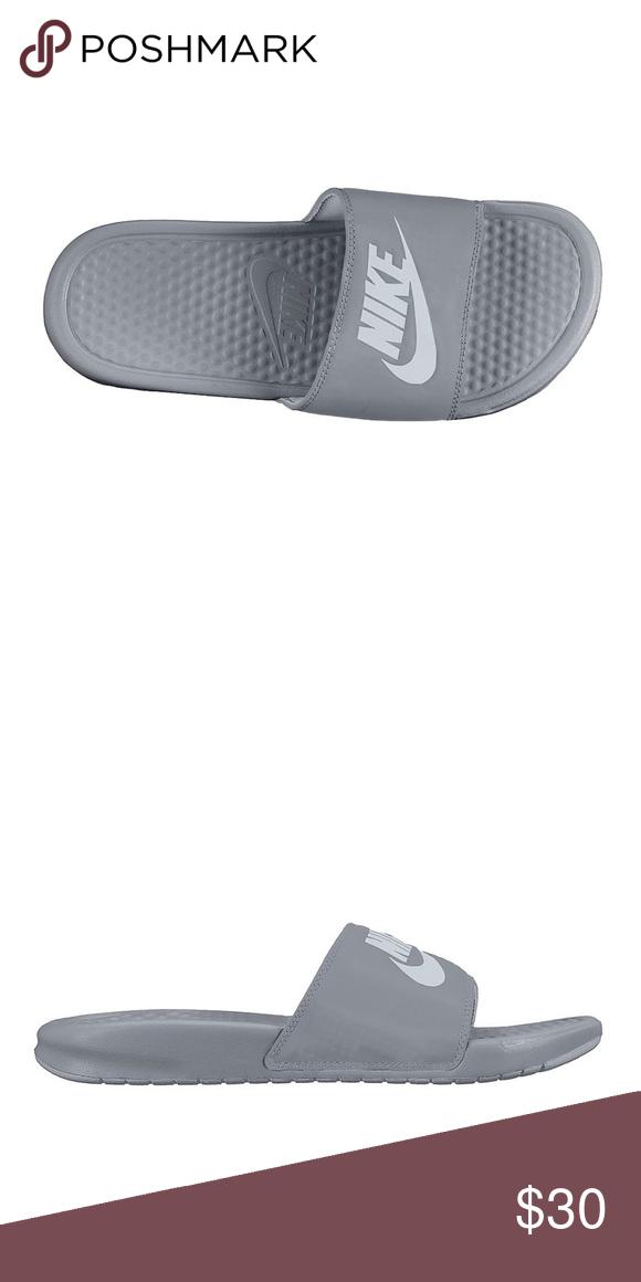 58fbaf8c3ee8 Gray Nike slides women s exclusive Gray Nike slides women s exclusive  limited color Nike Shoes Sandals