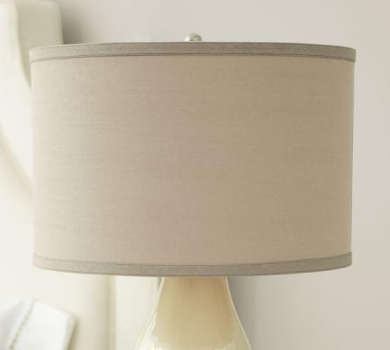 Linen Straight Sided Lamp Shade Drum Lampshade Lamp Shade Rustic Lamp Shades