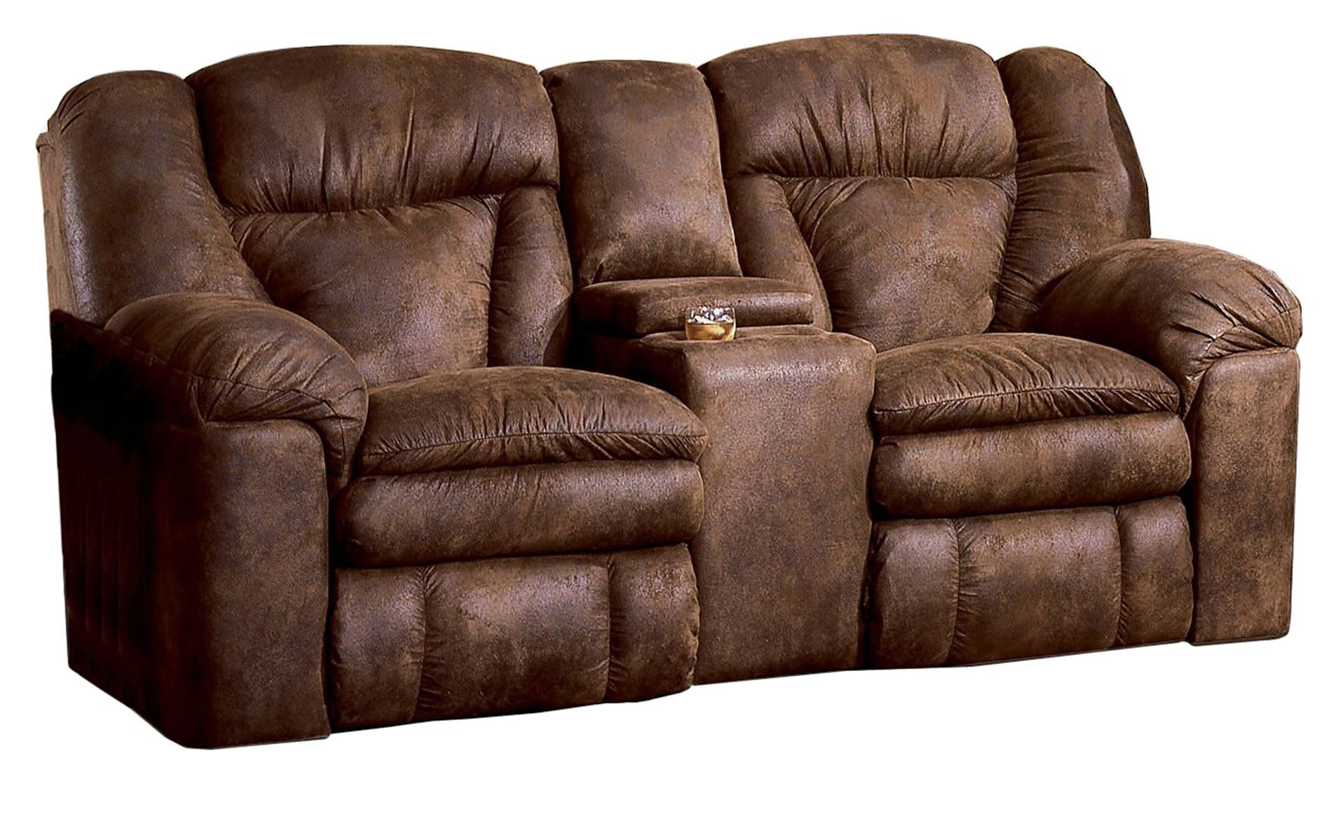 Double Media Room Recliners Lane Talon Double Reclining Loveseat With Storage Console