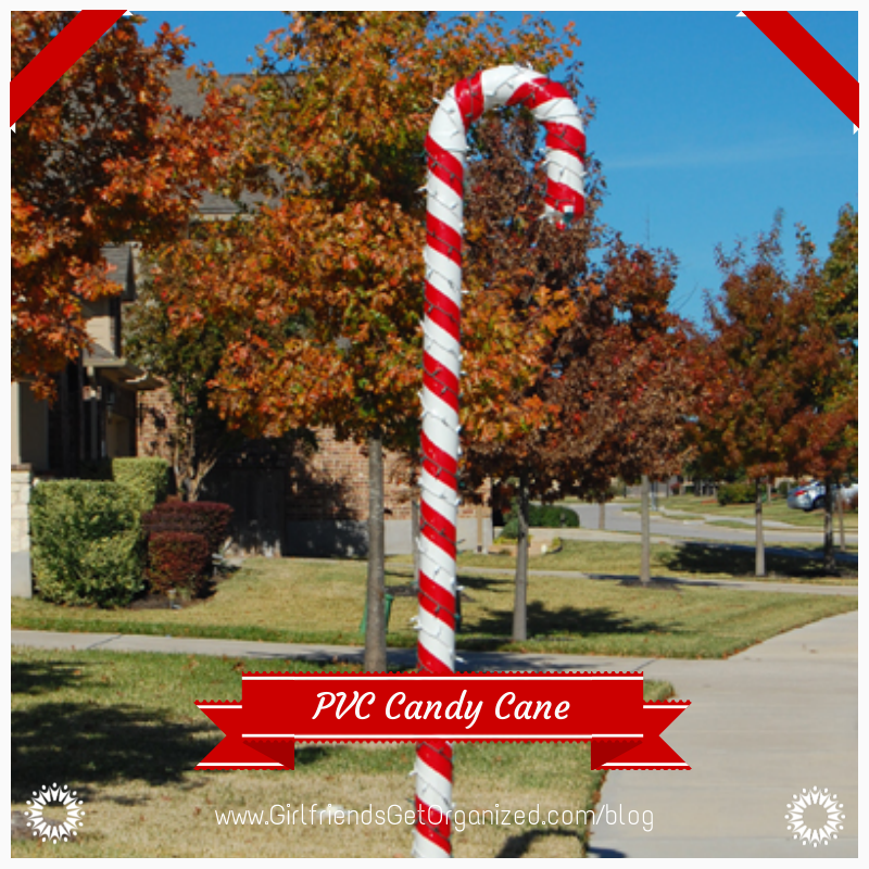 Large Candy Cane Decorations Outdoors Diy Pvc Candy Canegreat Outdoor Christmas Decoration