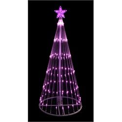 outdoor lighted led christmas tree decoration item 93839pk mo features pre lit with 152 pink mini led lights bulb size wide angle concave bulb 30656195
