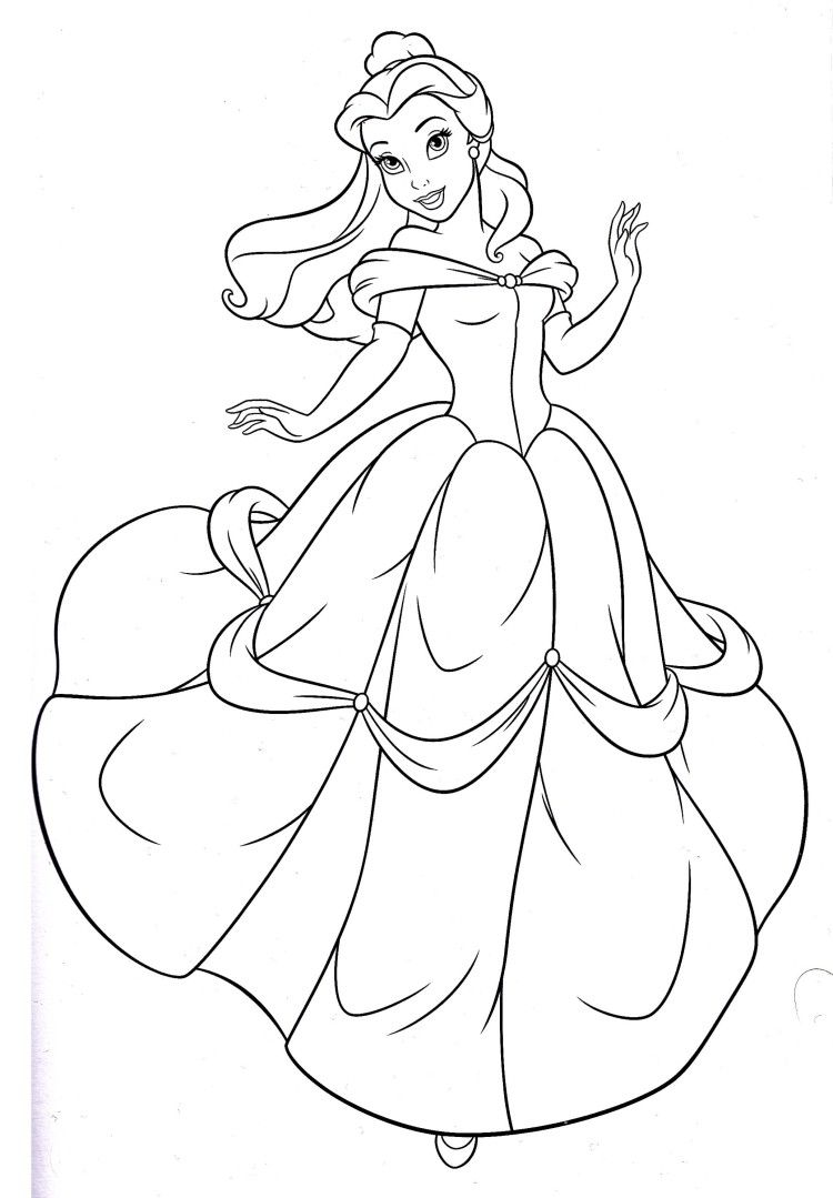 Princess Coloring Pages Spot : Disney princess belle coloring pages rae