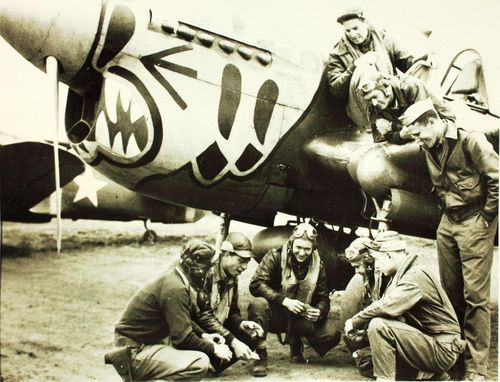 Men of the 343rd Fighter Group in the Pacific