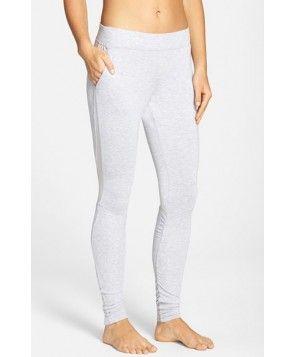 1bd251bc22958 Alo 'Yen' Mesh Inset Ribbed Sweatpants, - Grey Yoga Capris, Yoga Leggings