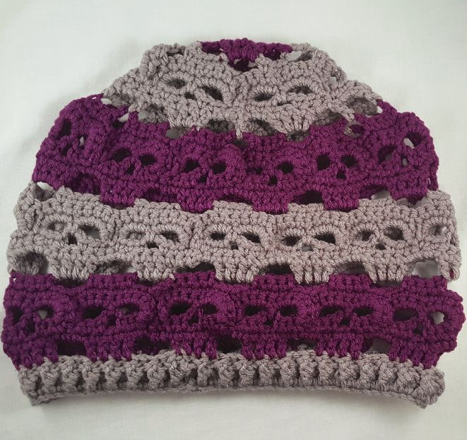 Crochet Skully Slouchy Hat | Calaveras