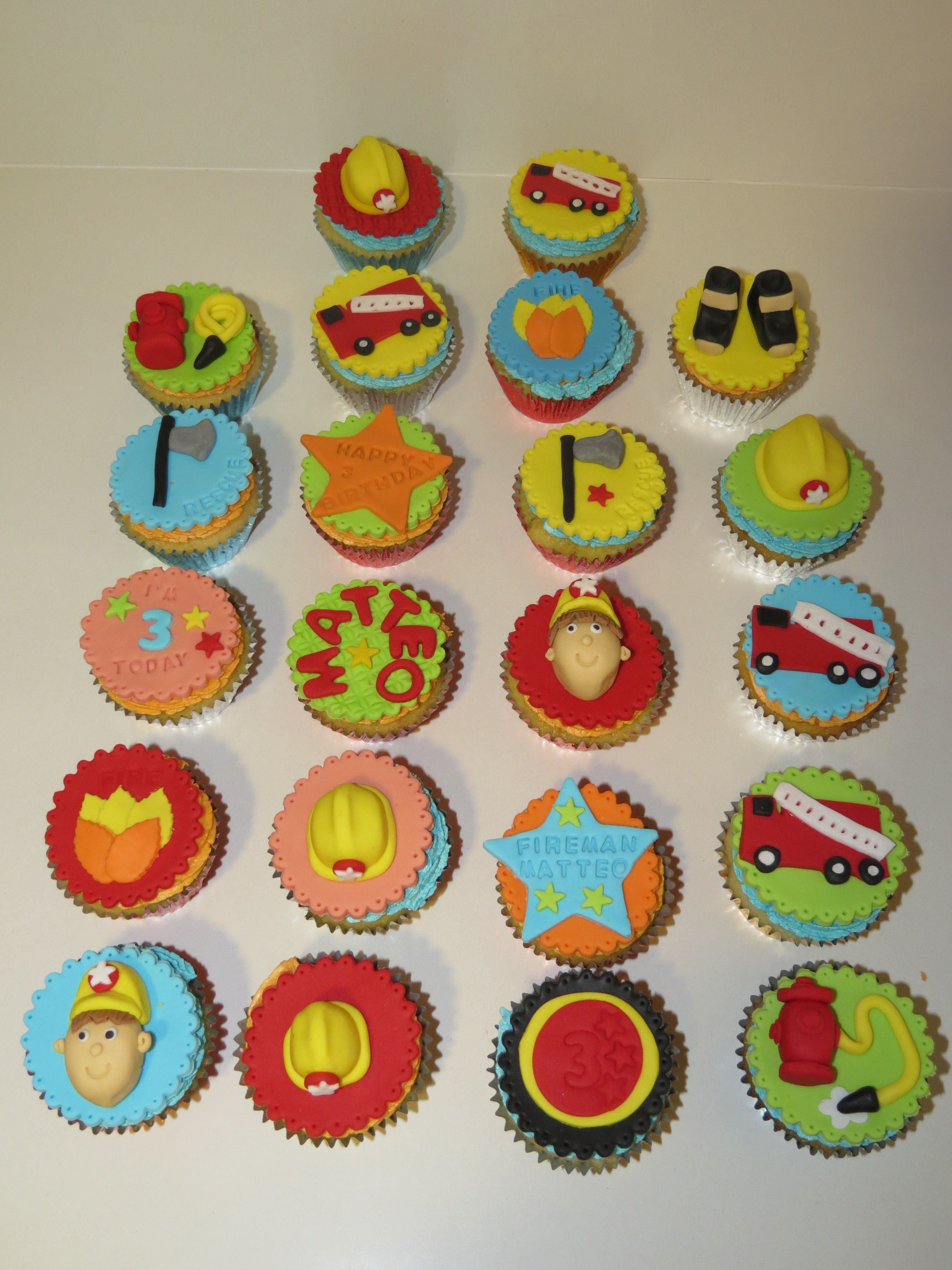 Fireman sam cupcakes with images cupcakes decoration