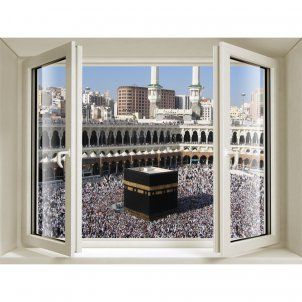 Mecca Window 3D Stickers | Wall decoration | Wall stickers, Wall