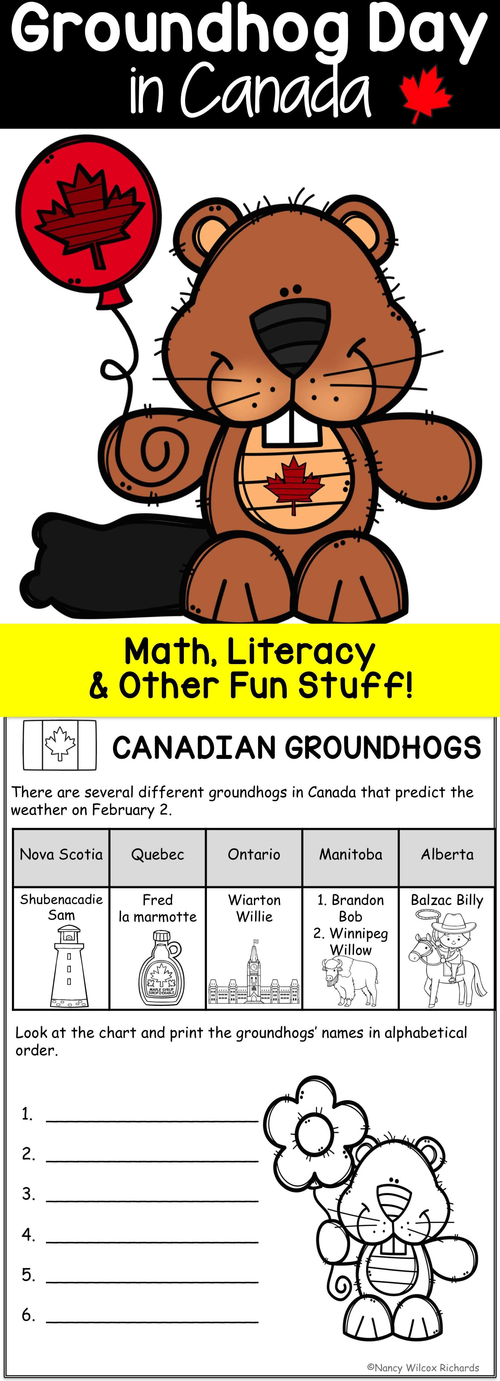 Groundhog Day In Canada Facts Writing And Math