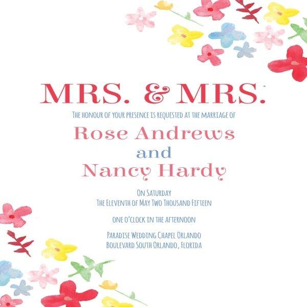 Cool 11 Generic Wedding Invitations