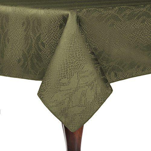Incroyable Ultimate Textile (2 Pack) Damask Kenya 72 X 108 Inch Rectangular Tablecloth