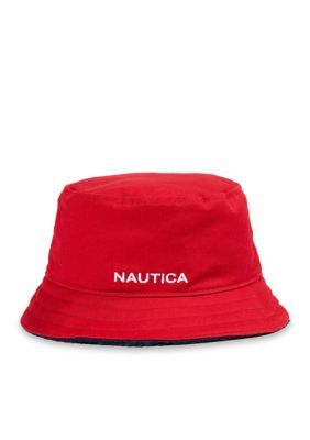 Nautica Men s Lil Yatchy Bucket Hat - Nautical Red - L Xl ecb41ac33b73