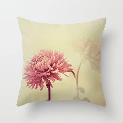 Autumn/秋菊 5 Throw Pillow by Katherine Song  - $20.00