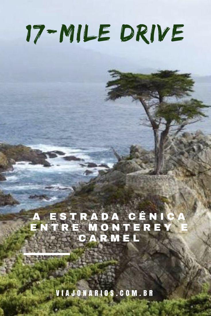 Litoral Da California 17 Mile Drive A Estrada Cenica Entre Monterey E Carmel Viajonarios Monterey Viagem Lugares Incriveis