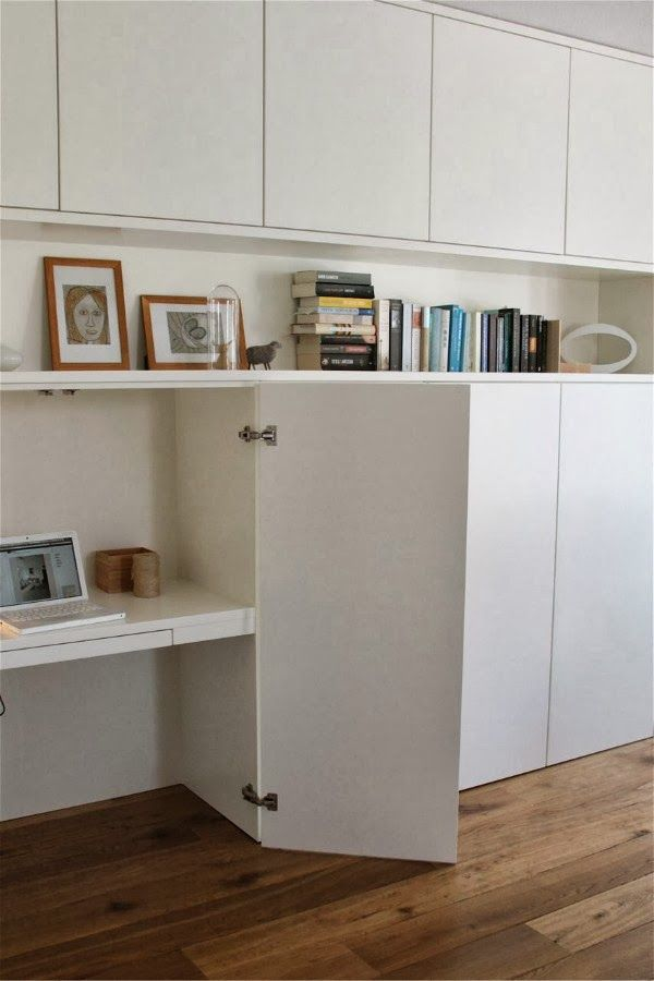 hidden office desk. Inside Detail Of IKEA Besta Built Ins. Works Perfectly As A Hidden Office Desk. Desk