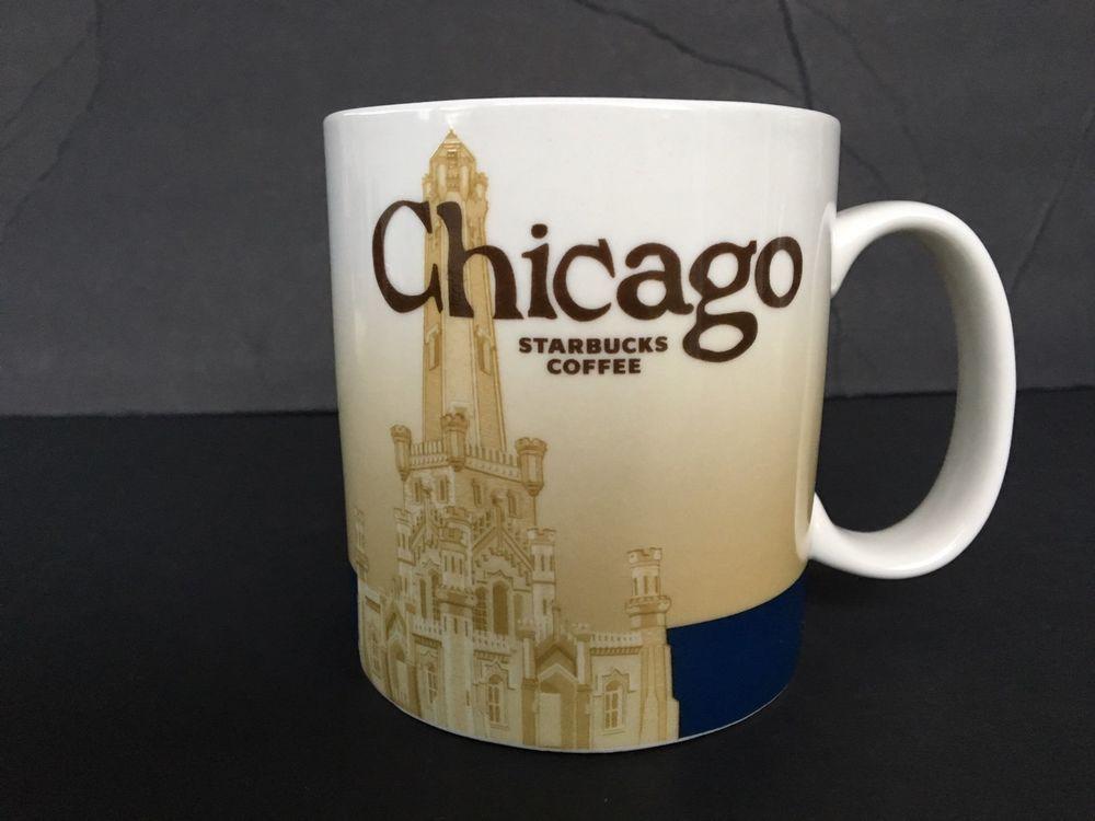 Starbucks Mug 2008 Global City Icon Series Chicago IL 16 oz Coffee Tea Cup NWT #Starbucks