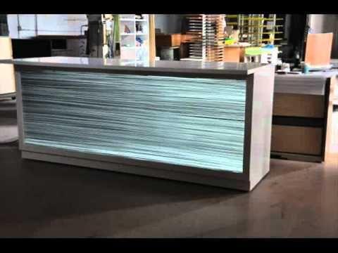 Nu World Custom Lighting Backlit Onyx Illuminated Counter