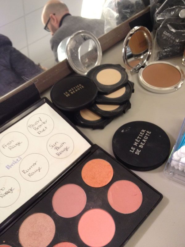 Gorgeous Le Metier de Beaute blushes and Kaleidoscope seen backstage at Douglas Hannant. ( #Nordstrom #NYFW #Throwback )