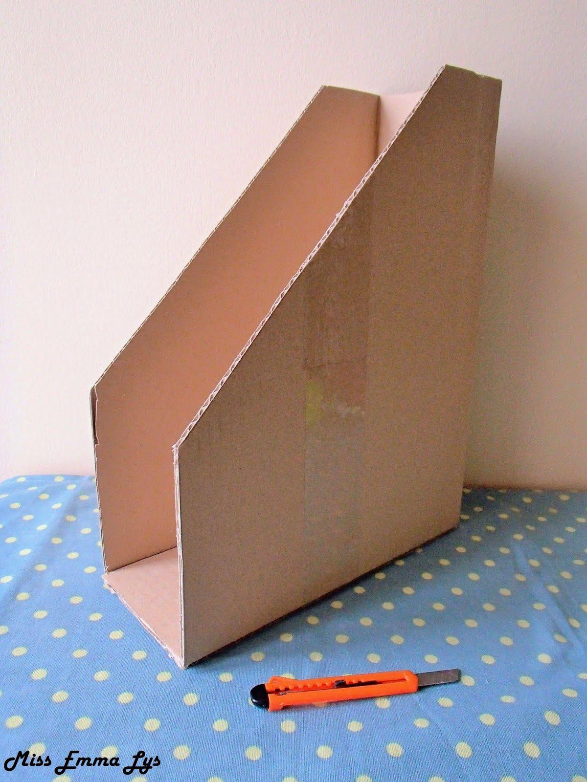 Diy Range Documents Boite De Rangement Carton Scrapbooking Rangement