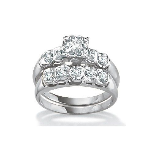 Superbe Palm Beach Jewelry Diamond Wedding Ring Set It Is From Wal Mart . Believe It