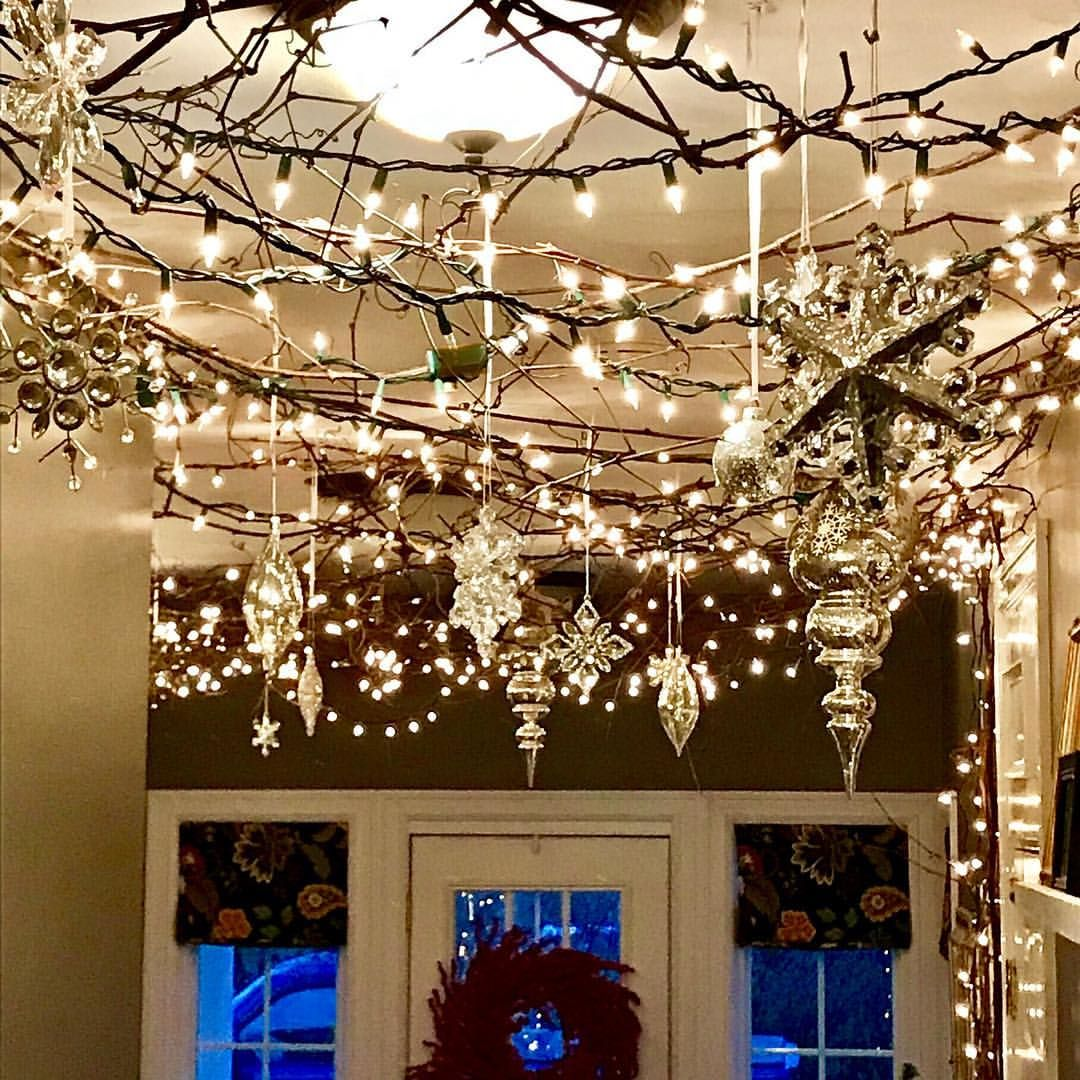 Christmas Lights On Ceiling Indoor Christmas Lights Office Christmas Decorations Christmas Ceiling Decorations