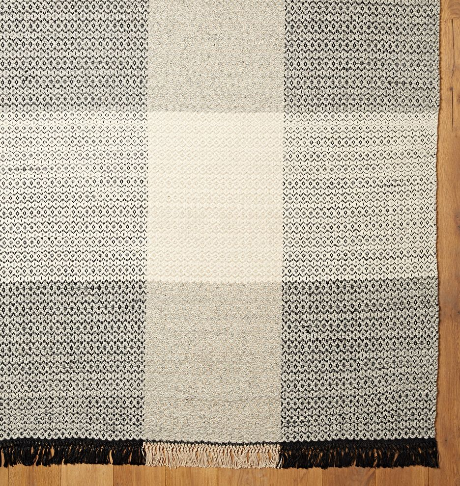 plaid flatweave rug - 3x5 Rugs