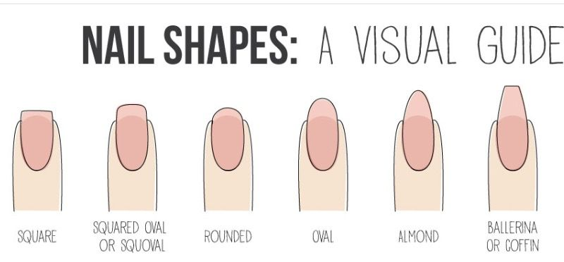 Diffe Types Of Nail Shapes