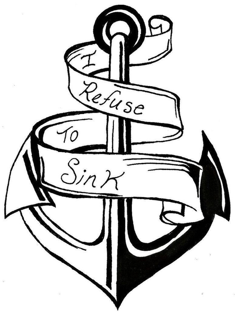 I Refuse To Sink Anchor And Ribbon by dgc0115 on
