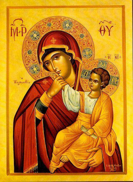 """Theotokos """"Comforter"""" icon"""