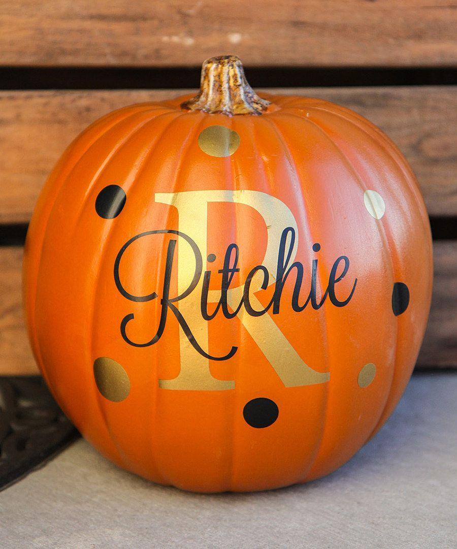 The Vinyl Company Personalized Pumpkin Decal Set | Halloween ideas ...